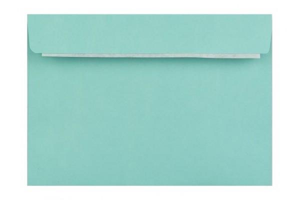 Barevná obálka s krycí páskou tyrkysová