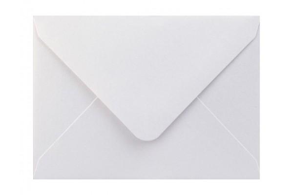 Metalická (perleťová) obálka bílá