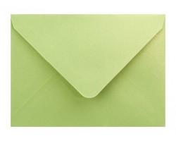 Metalická (perleťová) obálka zelenožlutá