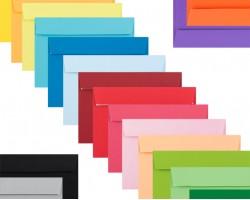 Barevné obálky samolepící s  krycí páskou